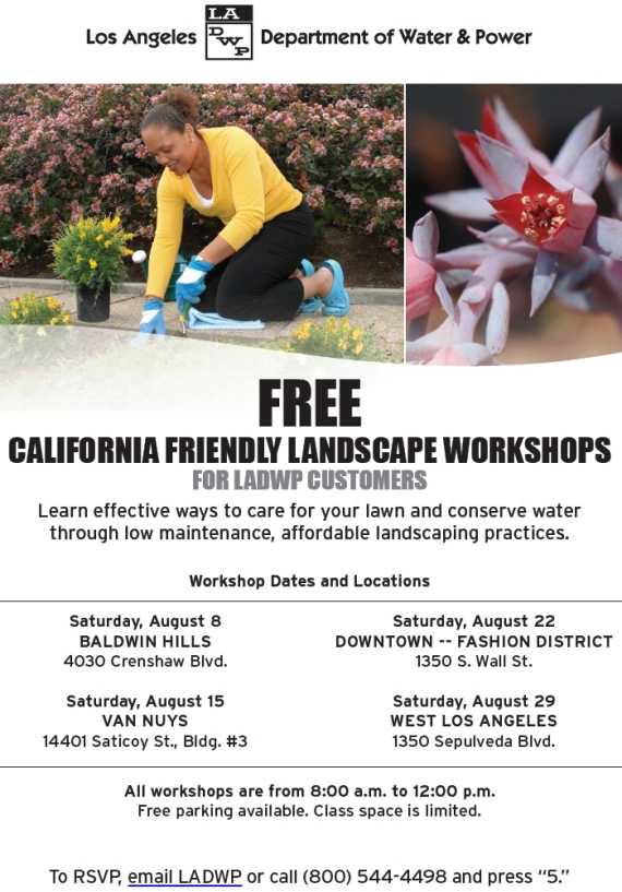 FREE landscaping workshops