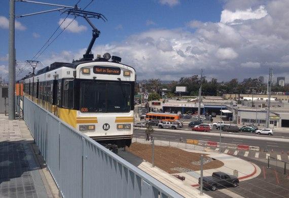 Expo train to Santa Monica